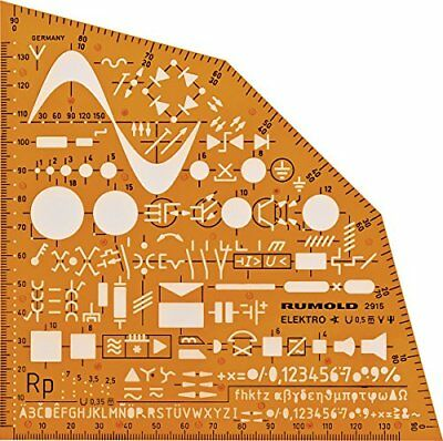 ❤ Electrical & Electronic Installation Symbols Drawing Template Stencil – Engine
