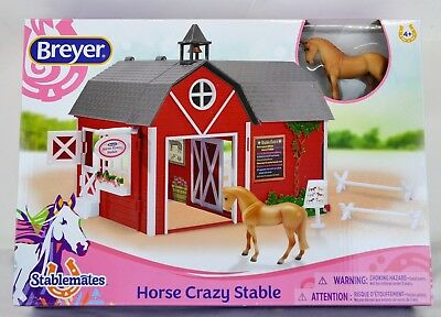 BREYER STABLEMATES NEW! Horse Crazy Red Stable Toy Ages 4+