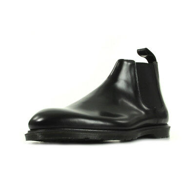 35ac10a782dc Bottines Dr Martens homme Wilde Black Polished Smooth taille Noir Noire Cuir