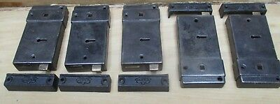 "Set 5 Edwardian Rim locks 3""x 5 3/4""x 3/4"" with keeps 3 1/2 ""x1""x1"""
