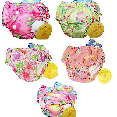 NEW Lot of 3 I Play Baby Girl Ultimate Reusable Swim Diapers UPF 50+ Size 2T 2