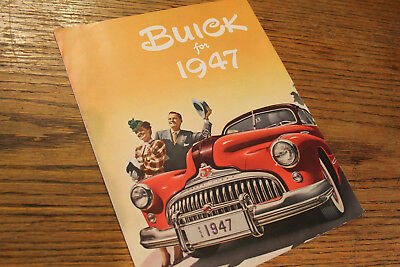 1947 Buick color sales catalog, , very detailed, good condition