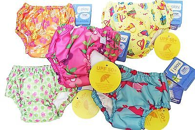 Lot of 3 I Play Girl's Bathing Suit Ultimate Reusable Washable Swim Diapers 18M