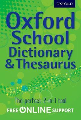 Oxford School Dictionary & Thesaurus by Oxford Dictionary | Paperback Book | 978