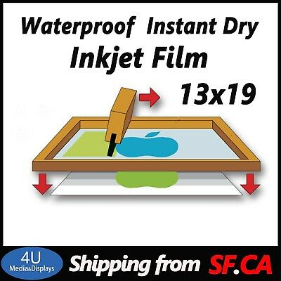 100 sheets,13 x 19,Waterproof inkjet Transparency Film Paper for Screen Printing