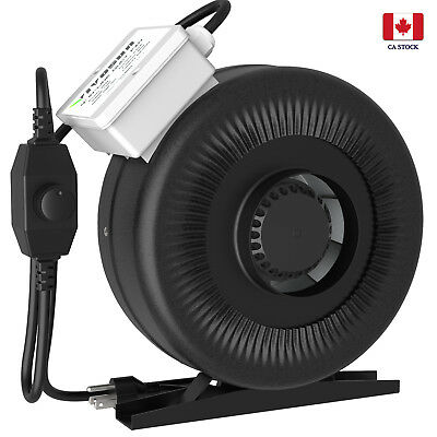 "VIVOSUN 4"" inch 203 CFM Inline Duct Fan Vent Air Blower w/ Speed Controller"