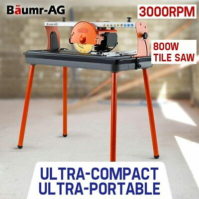 BAUMR-AG BTS90 Tile Saw Wet Cutting Table Rail Bridge Cutter Ceramic Porcelain