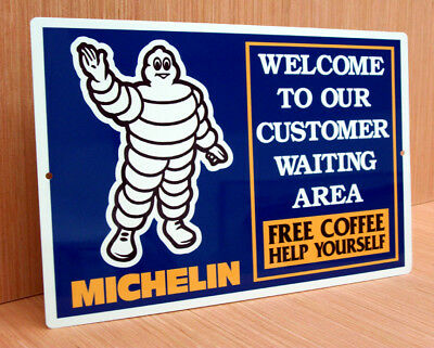 Michelin Tires Customer Waiting Area Sign Garage Gas Station Performance Shop