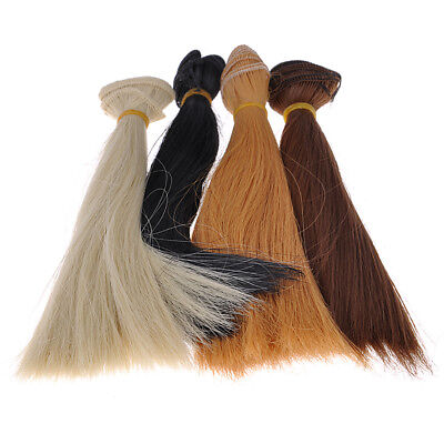 20x100cm High-temperature Long Straight Color Hair Wig For DIY BJD Girl Doll Toy