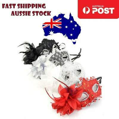 Lace Venetian Mask Masquerade Carnival Party Masked Ball Fancy Dress Costume - A