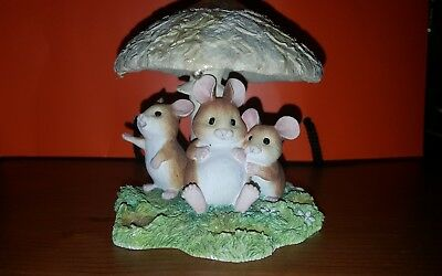Border Fine Arts Studio Collectable Pottery Merry Mice Funguys A1813. Not mush