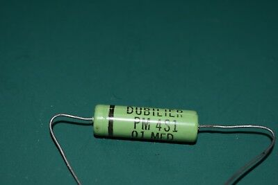 Cornell Dubilier Green .01 uF 400 Vdc Audio Amplifier Tone NOS Capacitor Tested