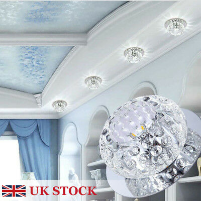 ROUND - 5w Crystal LED Ceiling Chandelier Spotlight Downlight Warm/Cool White
