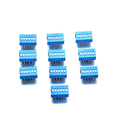 10pcs 2*6 pins DIP Switch Contacts Breadboard 2.54mm