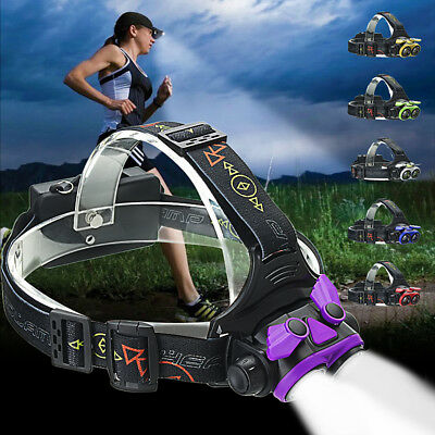 40000LM LED Headlamp Rechargeable Headlight T6 Head Torch light lamp