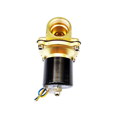 """1 inch 1"""" 12V DC Brass Electric Solenoid Valve NPT Gas Water Air Normally Closed"""