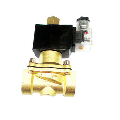 3/4 inch 24V AC VAC Brass Solenoid Valve NPT Air Fuel Oil Water Normally Open