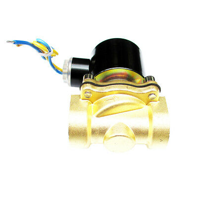 3/4 inch 12V DC VDC Slim Brass Solenoid Valve for NPS Gas Water Air Wastewater