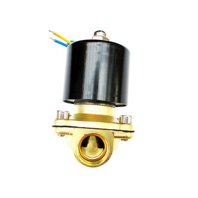 1/2 inch 12V DC Slim Brass Solenoid Valve for NPS Gas Water Air Fuel Wastewater
