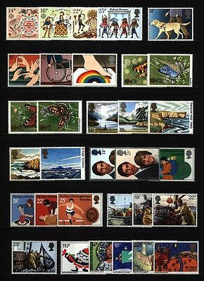 GB 1981 Commemorative Stamps, Year Set~Unmounted Mint~UK Seller