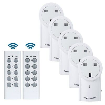 Wireless Remote Control Sockets Programmable Electrical UK Plug Outlet Switch