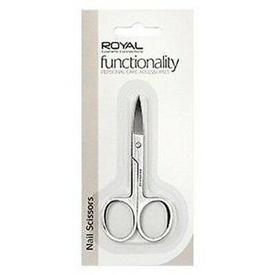 Royal Functionality Nail Scissors Curved End Carded