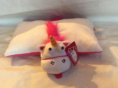 Bnwt Official Despicable Me Minion Unicorn 3D Plush Fluffy Cushion Pillow