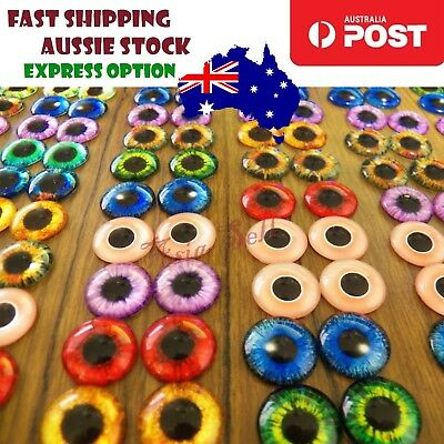 20Pcs 10mm Dinosaur Time Gem Eyeballs Glass Dolls Eyes DIY Crafts