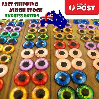 20pcs 12mm Dinosaur Time Gem Eyeballs Glass Dolls Eyes DIY Craft Cabochon Crafts
