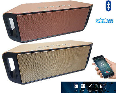 New Bluetooth Wireless Subwoofer Stereo Sound Speaker TF USB FM AUX Mp3 Player
