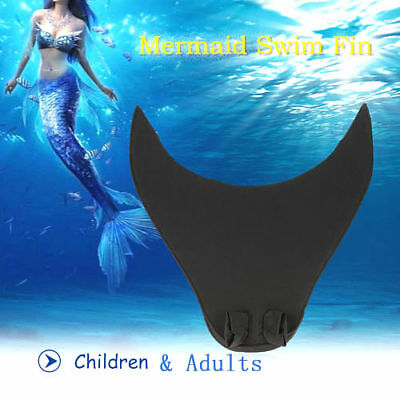 Kids Adult Mermaid Swimming Diving Monofin Swimmable Tails Fin Training Flipper
