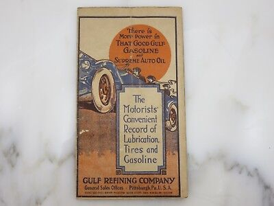 1900's Good GULF Gasoline Record Booklet - Early Automobiles