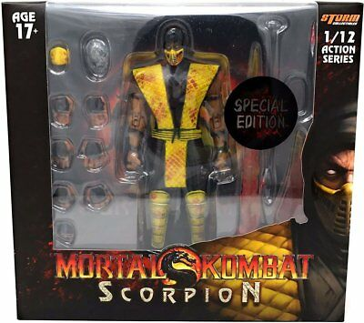 Storm Collectibles Mortal Kombat Scorpion Bloody Variant 1/12 Action Figure USA