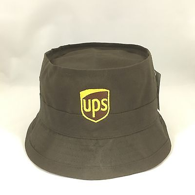 UPS Bucket Hat Decky Fisherman's Cap United Parcel Service Brown S/M