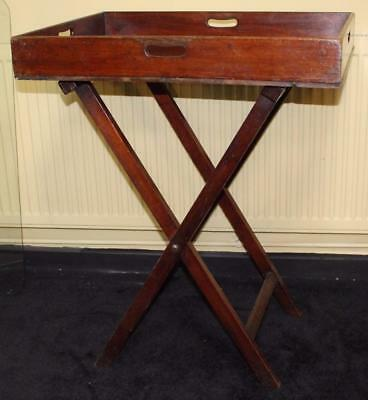 Antique George III Mahogany Butlers Tray on Stand