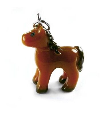 3-D Hand Painted Resin Brown Pony Charms Lot of 6