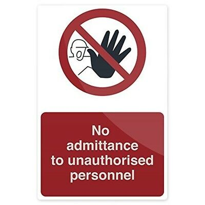 Fixman No Unauthorised Persons Allowed Beyond This Point 200 x 300mm Rigid -