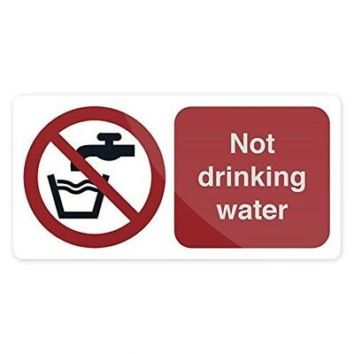Fixman Not Drinking Water Sign 75 x 150mm Self-adhesive - Drinking Water x