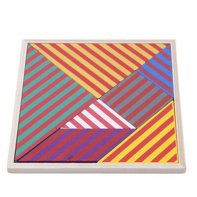 Wooden IQ Game Jigsaw Intelligent Tangram Brain Teaser Puzzle Baby Kids Toy Cool