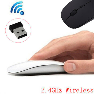 Mini Wireless Optical Gaming Mouse 2.4Ghz Mice & USB Receiver For PC Laptop Work