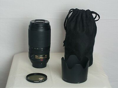 MINT- NIKON NIKKOR VR 70-300mm f4.5-5.6 G SWM AF-S IF ED w/ box, pouch, & filter