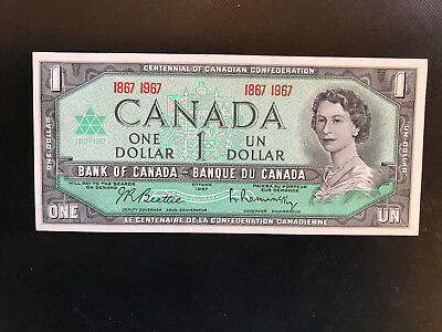 1867 1967 CANADA Canadian CENTENNIAL one 1 DOLLAR BILL NOTE crisp UNC