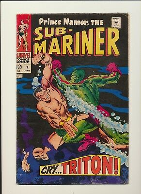 Sub-Mariner #2! Marvel Comics June 1968! See Pics And Scans! Wow!