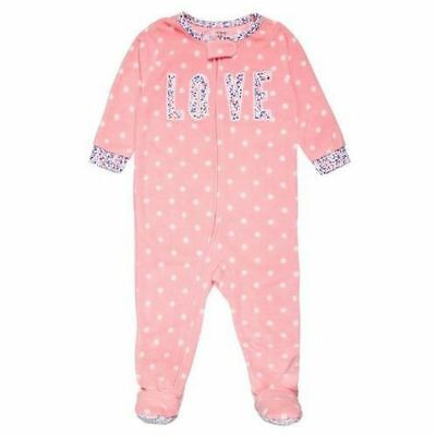 145a7b221b11 NEW  NWT CARTER S Baby Girls 1-Piece Christmas Fleece PJs pajamas 18 ...