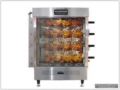 Southwood RG4 20-Chicken Gas (NG/LP) Heavy-Duty Rotisserie Machine