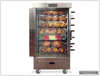 Southwood RG7 35-Chicken Gas (NG/LP) Heavy-Duty Rotisserie Machine