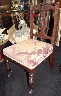 Edwardian Mahogany Upholstered Nursing Occasional Chair
