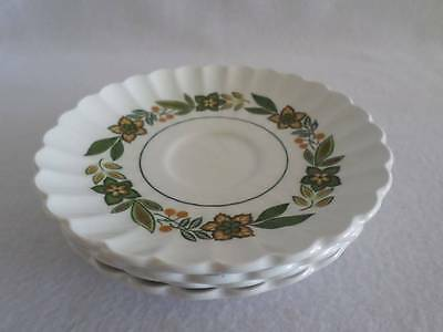 J & G MEAKIN COLONIAL CLASSIC WHITE ENGLISH IRONSTONE SAUCER (s) CRAZING