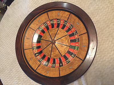 22.5 Inch Roulette Wheel Beautiful Inlaid Wood With Carrying Case