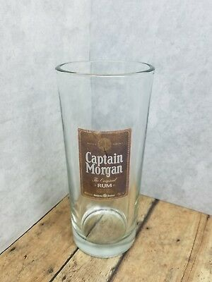 Captain Morgan Rum Drinking Glass very Heavy Duty Glass